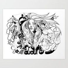 VOTRE ADN VOUS VA SI BIEN Art Print