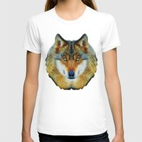 polygon T-shirts featuring polygon wolf by Ancello