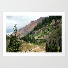 Road to the Longfellow Mine, elevation 11,080 feet Art Print