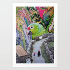 Parrot Path Art Print