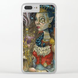 Elven Steam Queen Clear iPhone Case