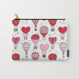 hot air balloon love valentines day gifts heart shape girls nursery Carry-All Pouch