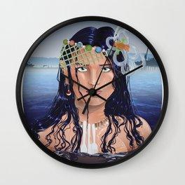Plastic Southern California Mermaid Wall Clock