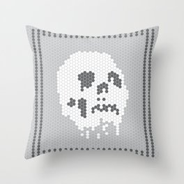 Skull Tile Throw Pillow