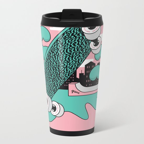Skate or DIY Dark Roast Metal Travel Mug