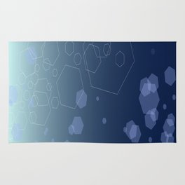 Hexagon background - Cold explosion Rug