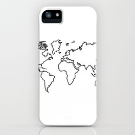 World Map Outline iPhone Case