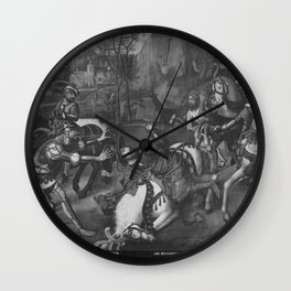 Jehan Bellegambe - Conversion of St Paul on the way to Damascus Wall Clock