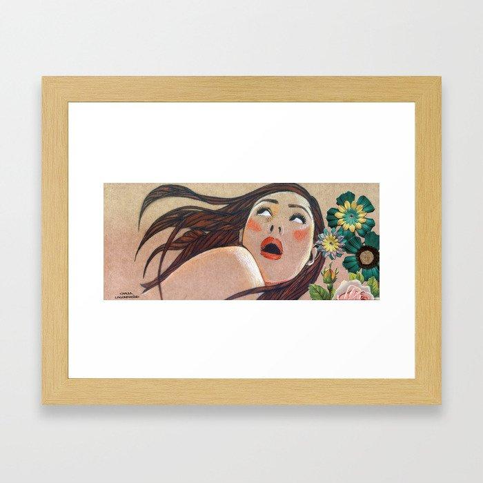 Catalina Sorprendida / Catalina Surprised Framed Art Print