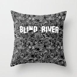 The Town (Black & White) Throw Pillow