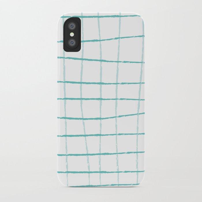 Blue Grid Wallpaper Iphone Case