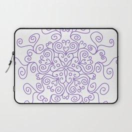 Purple Line Swirl Mandala Laptop Sleeve