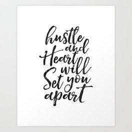Printable Poster, hustle Hard,hustle quote,office decor,quote prints,inspirational poster,wall art Art Print