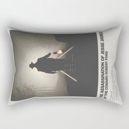 Assassination of Jesse James by the Coward Robert Ford Minimal Movie Poster No 01 Rectangular Pillow