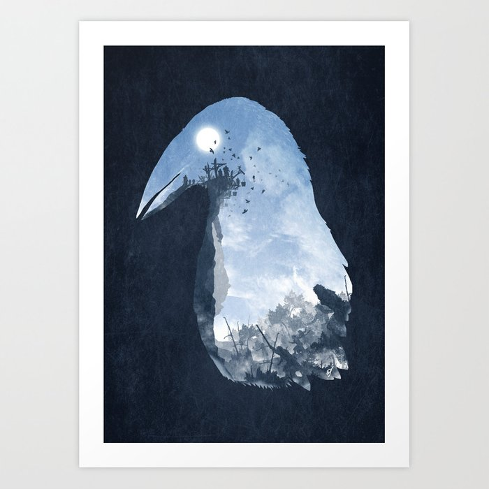 Rise of the Crow Art Print