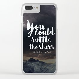 You could rattle the stars (stag included) Clear iPhone Case