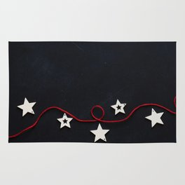 Stars on a Red Rope (Color) Rug