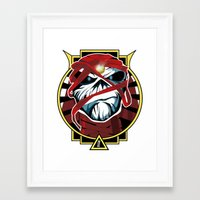 iron maiden Framed Art Prints featuring Tribute Iron Maiden by JHC Studio