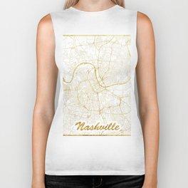 Nashville Map Gold Biker Tank