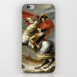 Napoleon Crossing the Alps by Jacques Louis David iPhone Skin