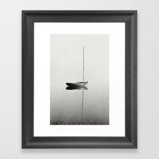 Little Red Boat / Early Morning Calm Framed Art Print