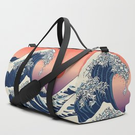 The Great Wave of Maltese Duffle Bag