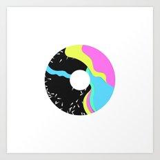 Iridescent donut Art Print