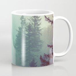 Forest Fog Fir Trees Coffee Mug