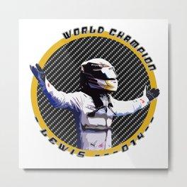 Lewis World Champion 2014 Metal Print