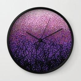 Plum Blossom Tree Grove Wall Clock