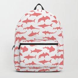 Light Coral Sharks Backpack