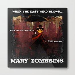 Mary Zombbins Metal Print