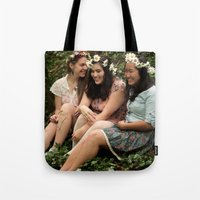 fairies Tote Bags featuring Forest Fairies by Frances Dierken