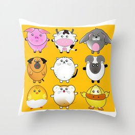 My softy fatty pets Throw Pillow