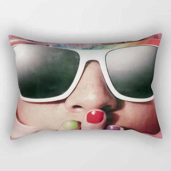 Carnaval girl Rectangular Pillow