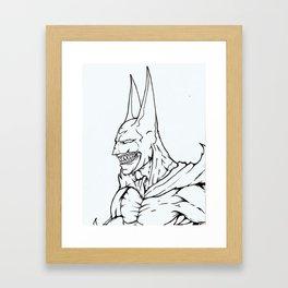 The Undead Bat Framed Art Print