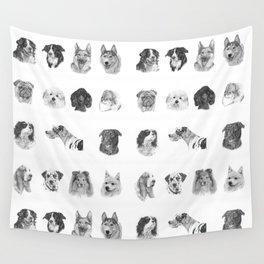 Dog poster Wall Tapestry