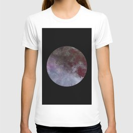 Lonely planet - Space themed geometric painting T-shirt