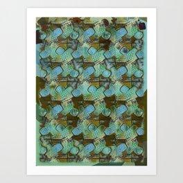 Polka Ice Fizz. Art Print