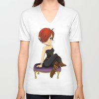 warhammer V-neck T-shirts featuring Chibi Iris by Miraberi