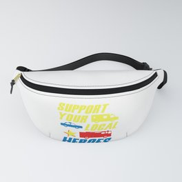 Support Your Local Heroes EMS Police Firefighter Gift Fanny Pack