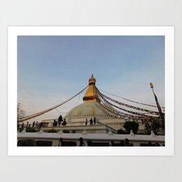 Boudha Stupa Art Print