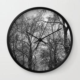 Winter jog Wall Clock