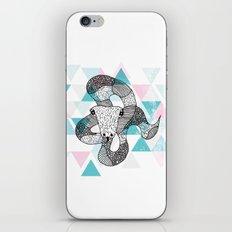 Geometric snake attack iPhone & iPod Skin