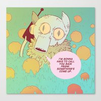 frank Canvas Prints featuring Frank by Kreature Kastle