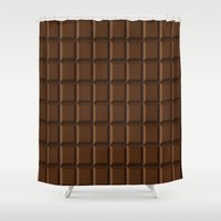 chocolate Shower Curtains featuring Chocolate by lllg