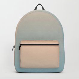 HALF MOON - Minimal Plain Soft Mood Color Blend Prints Backpack