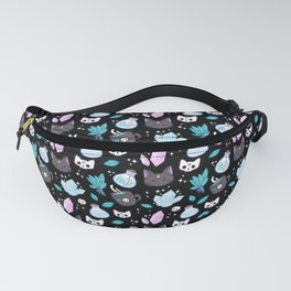 Herb Witch // Black Fanny Pack