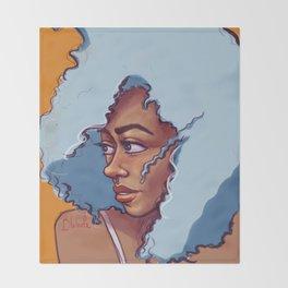 Blue Haired Bombshell Throw Blanket
