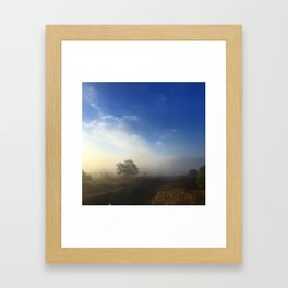 Landcape blues Framed Art Print